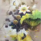 "Chinese style Hand painted oil painting on canvas""lotus""60x90CM(23.6""x35.4"")Unframed-39"