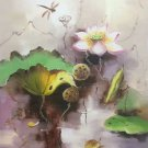 "Chinese style Hand painted oil painting on canvas""lotus""60x90CM(23.6""x35.4"")Unframed-40"
