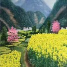 """Hand painted oil painting on canvas""""Image of the countryside""""60x120CM(23.6""""x47.2"""")Unframed-41"""