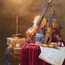 """Simple modern Hand painted oil painting on canvas""""violin""""60x90CM(23.6""""x35.4"""")Unframed-09"""