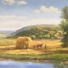 "Hand painted oil painting on canvas""Image of the countryside""70x180CM(27.6""x70.9"")Unframed-43"