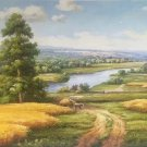 """Hand painted oil painting on canvas""""Image of the countryside""""70x180CM(27.6""""x70.9"""")Unframed-44"""