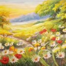 """Hand painted oil painting on canvas""""tiny Pink blossoms""""60x120CM(23.6""""x47.2"""")Unframed-06"""