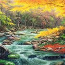 """American style Hand painted oil painting on canvas""""Creek""""70x180CM(27.6""""x70.9"""")Unframed-96"""