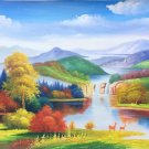 """American style Hand painted oil painting on canvas""""Creek""""70x180CM(27.6""""x70.9"""")Unframed-98"""