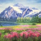 """American style Hand painted oil painting on canvas""""Creek""""70x180CM(27.6""""x70.9"""")Unframed-100"""