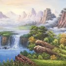 """American style Hand painted oil painting on canvas""""Creek""""70x180CM(27.6""""x70.9"""")Unframed-109"""