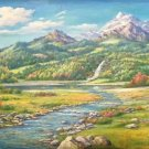 "American style Hand painted oil painting on canvas""Creek""70x180CM(27.6""x70.9"")Unframed-113"