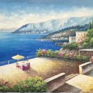 """Hand painted oil painting on canvas""""Sea view Villa""""70x180CM(27.6""""x70.9"""")Unframed-64"""