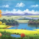 """American style Hand painted oil painting on canvas""""Creek""""70x180CM(27.6""""x70.9"""")Unframed-117"""