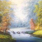 "American style Hand painted oil painting on canvas""Creek""70x180CM(27.6""x70.9"")Unframed-119"