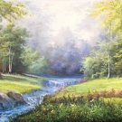 "American style Hand painted oil painting on canvas""Creek""70x180CM(27.6""x70.9"")Unframed-120"
