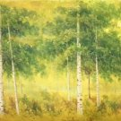 "Nordic style Hand painted oil painting on canvas""forest""70x180CM(27.6""x70.9"")Unframed-34"