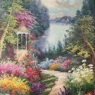 "American style Hand painted oil painting on canvas""Private garden""60x120CM(23.6""x47.2"")Unframed-19"