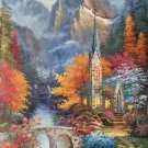 """American style Hand painted oil painting on canvas""""Private garden""""60x120CM(23.6""""x47.2"""")Unframed-20"""