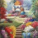 "American style Hand painted oil painting on canvas""Private garden""60x120CM(23.6""x47.2"")Unframed-25"