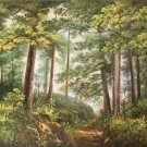 """Nordic style Hand painted oil painting on canvas""""forest""""60x120CM(23.6""""x47.2"""")Unframed-36"""
