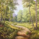 """Nordic style Hand painted oil painting on canvas""""forest""""60x90CM(23.6""""x35.4"""")Unframed-37"""