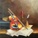 "Simple modern Hand painted oil painting on canvas""violin""50x60CM(19.7""x23.6"") Unframed-11"