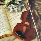 """Simple modern Hand painted oil painting on canvas""""violin""""50x60CM(19.7""""x23.6"""") Unframed-12"""