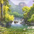 "American style Hand painted oil painting on canvas""Creek""90x160CM(36.0x63.0inch)Unframed-135"