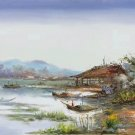 """Hand painted oil painting on canvas""""Fishing boat""""60x90CM(23.6""""x35.4"""")Unframed-29"""