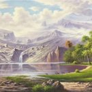 """American style Hand painted oil painting on canvas""""Creek""""70x180CM(27.6""""x70.9"""")Unframed-136"""