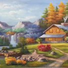 """European style Hand-painted oil painting on canvas""""mind home""""70x180CM(27.6""""x70.9"""")Unframed-30"""