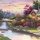 "European style Hand-painted oil painting on canvas""mind home""70x180CM(27.6""x70.9"")Unframed-33"