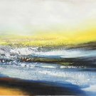 """Simple modern Hand-painted oil painting on canvas""""Cirrus""""40x150cm(16'' X 60'')Unframe-09"""
