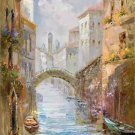 "European style Hand painted oil painting on canvas""Venice""60x90CM(23.6""x35.4"")Unframed-15"