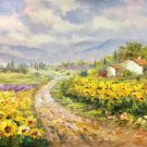 """Hand painted oil painting on canvas""""Image of the countryside""""60x90CM(23.6""""x35.4"""")Unframed-52"""