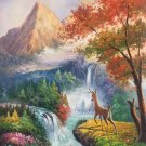"""Hand painted oil painting on canvas""""The King Of Milu Deer""""60x90CM(23.6""""x35.4"""")Unframed-11"""