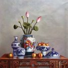 "Chinese style Hand painted oil painting on canvas""ceramics""75x100CM(29.5""x39.4"")Unframed-30"
