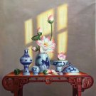"Chinese style Hand painted oil painting on canvas""ceramics""75x100CM(29.5""x39.4"")Unframed-31"