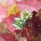 "Chinese style Hand painted oil painting on canvas""lotus""60x120CM(23.6""x47.2"")Unframed-44"