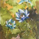 """Chinese style Hand painted oil painting on canvas""""lotus""""60x120CM(23.6""""x47.2"""")Unframed-49"""