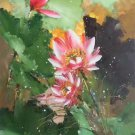 """Chinese style Hand painted oil painting on canvas""""lotus""""60x120CM(23.6""""x47.2"""")Unframed-51"""