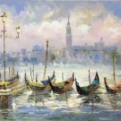 """Hand painted oil painting on canvas""""Fishing boat""""60x90CM(23.6""""x35.4"""")Unframed-30"""