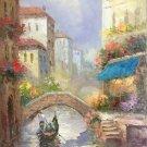 "European style Hand painted oil painting on canvas""Venice""60x90CM(23.6""x35.4"")Unframed-19"