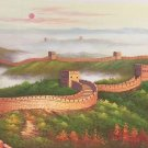 """Chinese style Hand painted oil painting on canvas""""Great Wall""""70x180CM(27.6""""x70.9"""")Unframed-08"""