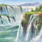 """American style Hand painted oil painting on canvas""""Creek""""70x180CM(27.6""""x70.9"""")Unframed-154"""