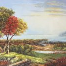 """American style Hand painted oil painting on canvas""""Creek""""70x180CM(27.6""""x70.9"""")Unframed-162"""