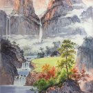 """Hand painted oil painting on canvas""""Mountains and rivers unlimited""""80x130CM(33""""x50"""")Unframed-16"""