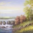 """American style Hand painted oil painting on canvas""""Creek""""70x180CM(27.6""""x70.9"""")Unframed-168"""