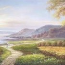 """American style Hand painted oil painting on canvas""""Creek""""70x180CM(27.6""""x70.9"""")Unframed-169"""