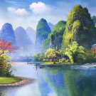 """Hand painted oil painting on canvas""""Creek""""80x120CM(33""""x48"""")Unframed-175"""