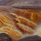 "Hand painted oil painting on canvas""Yellow River""70x180CM(27.6""x70.9"")Unframed-178"