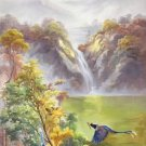 "Hand painted oil painting on canvas""Cute bird""60x120CM(24""x48"")Unframed-19"
