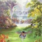 "Hand painted oil painting on canvas""Cute bird""60x120CM(24""x48"")Unframed-20"